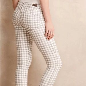 PAIGE Pants - Paige Ankle Verdugo Gingham Checkered Pants